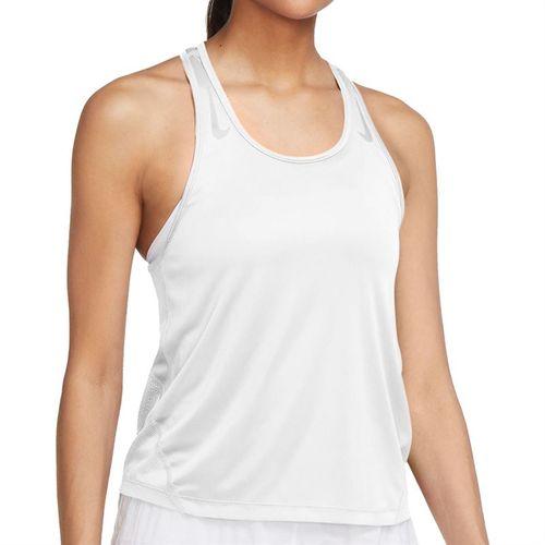 Nike Miler Tank Womens White/Reflective Silver CZ1046 100