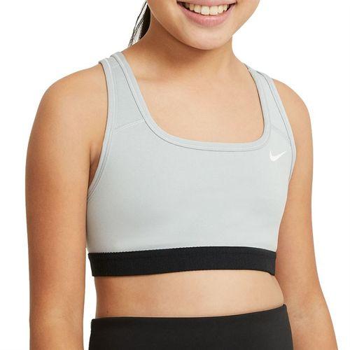 Nike Swoosh Girls Sport Bra Carbon Heather/White DA1030 091