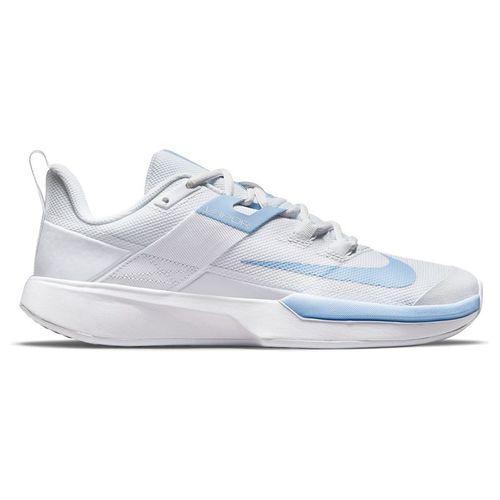Nike Court Vapor Lite Womens Tennis Shoe White/Aluminum DC3431 111