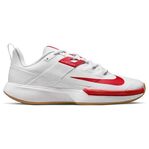 Nike Court Vapor Lite Womens Tennis Shoe White/University Red/Wheat DC3431 188