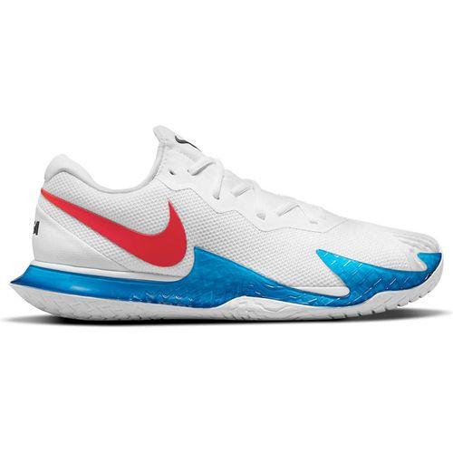 Nike Court Zoom Vapor Cage 4 Rafa Mens Tennis Shoe White/Chile Red/Binary Blue DD1579 113