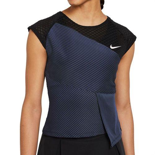 Nike Court Dri FIT ADV Slam Top Womens Black/White DJ6567 010