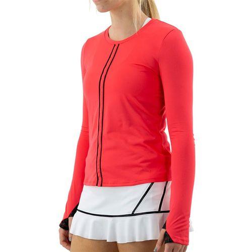 Inphorm Vibrant Mod Harper Long Sleeve Top Womens Vibrant Red/Black F20025 0210û
