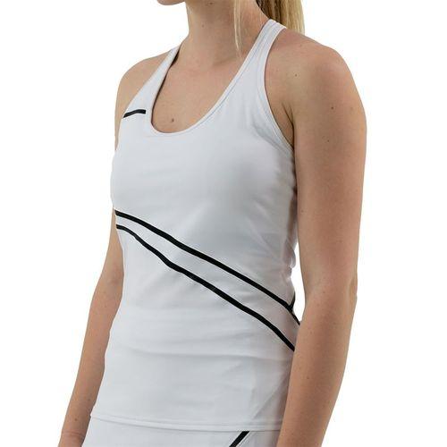 Inphorm Vibrant Mod Angelika Racerback Tank Womens White/Black F20027 009û