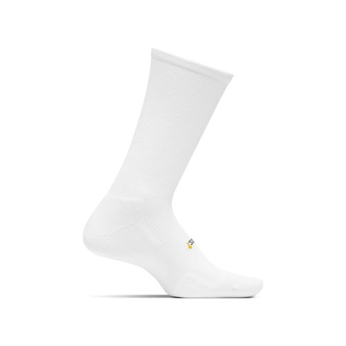 Feetures Cushion Crew Sock - White