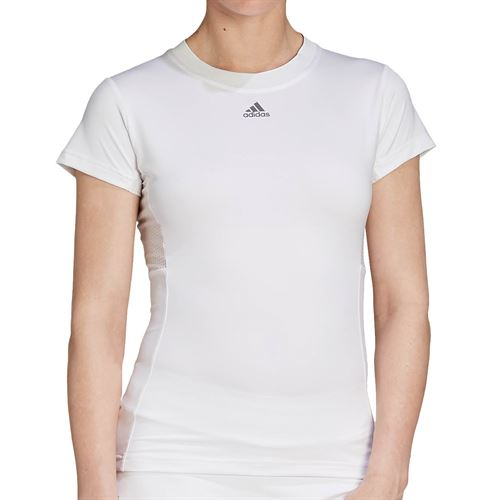 adidas Freelift Tennis T-Shirt Womens White/Grey FT6391