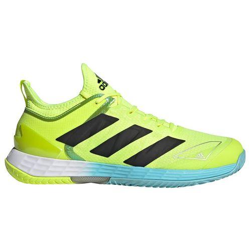 adidas Adizero Ubersonic 4 Mens Tennis Shoe Solar Yellow /Core Black/Hazy Sky FX1365