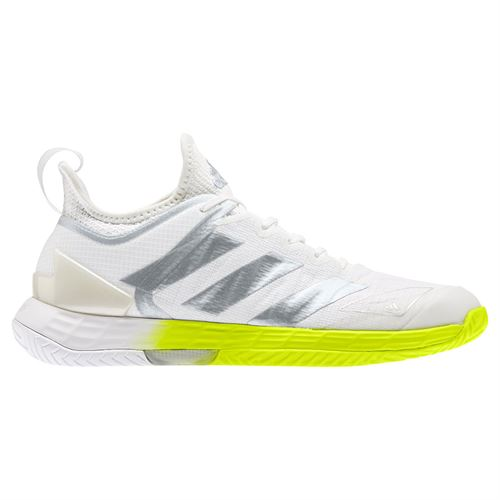 adidas Adizero Ubersonic 4 Womens Tennis Shoe White/Silver/Solar Yellow FX1368