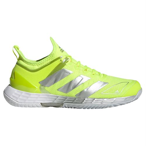 adidas Adizero Ubersonic 4 Womens Tennis Shoe Solar Yellow/Silver/Halo Blue FX1369