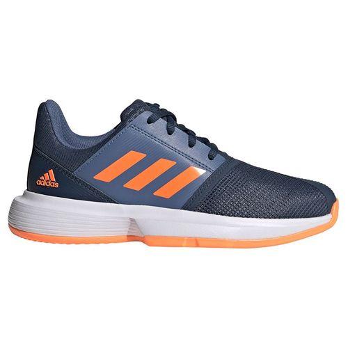 adidas CourtJam Junior Tennis Shoe Crew Navy/Screaming Orange/Crew Blue FX1491