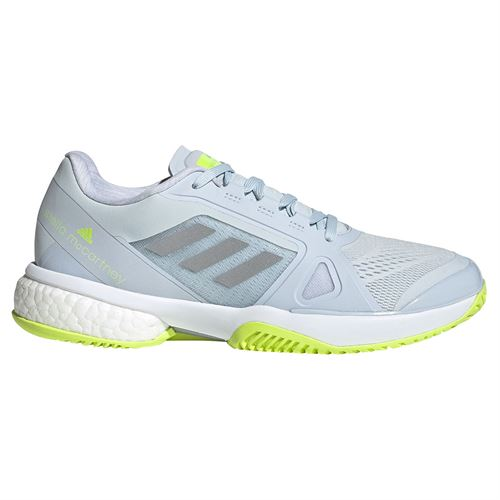 adidas aSMC Womens Tennis Shoe Halo Blue/Silver/Solar Yellow H55659