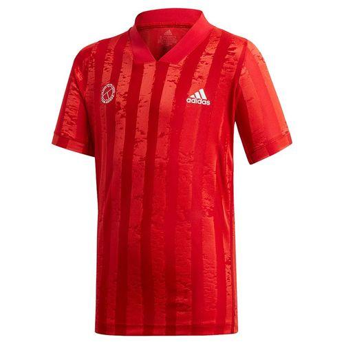 adidas Boys Freelift Tennis T-Shirt Scarlett/Signal Pink GE4821