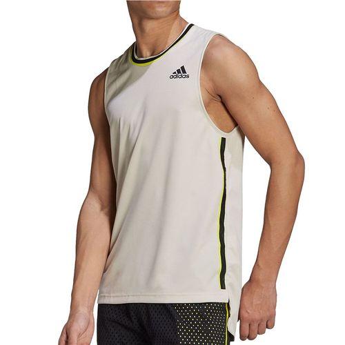 adidas Sleeveless Tee Shirt Mens Alumina/Wild Pine GH7619