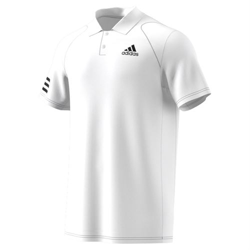 adidas Club 3 Stripe Polo Shirt Mens White/Black GL5416