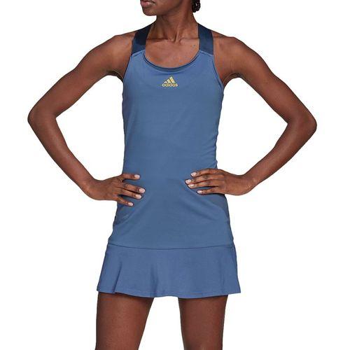 adidas Y Dress Womens Crew Blue/Acid Yellow GL6204