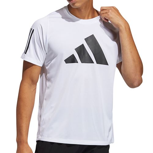 adidas Logo Tee Shirt Mens White GL8919