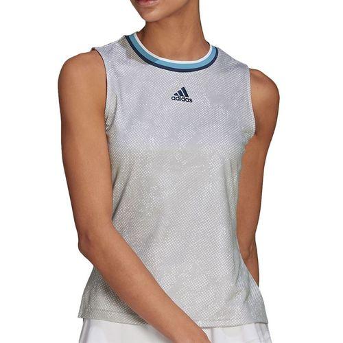 adidas Match Tank Womens White/Crew Navy GQ2240