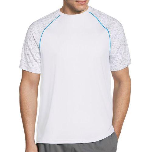 Grand Slam Raglan Printed Crew Shirt Mens Bright White GSKFA001 100