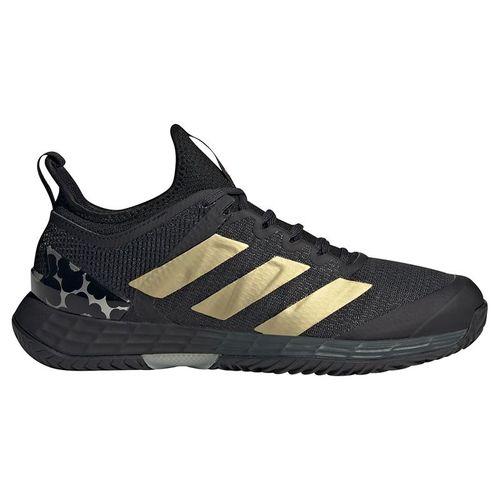 adidas Adizero Ubersonic 4 Womens Tennis Shoe Carbon/Gold Metallic/Core Black GZ8467
