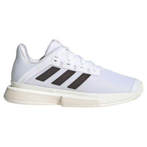 adidas Sole Match Bounce Womens Tennis Shoe White/Black/Solar Red GZ8491