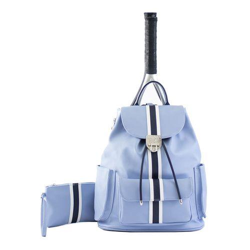 Court Couture Hampton Striped Tennis Bag - Sky Blue