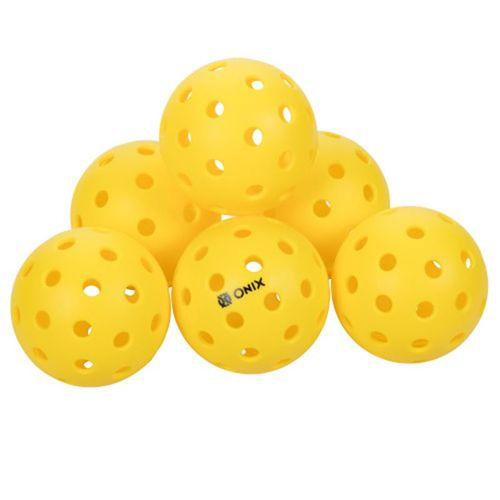Onix Pure 2 Outdoor 6 Pack Pickleballs - Yellow