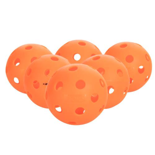 Onix Fuse Indoor 6 Pack Pickleballs - Orange