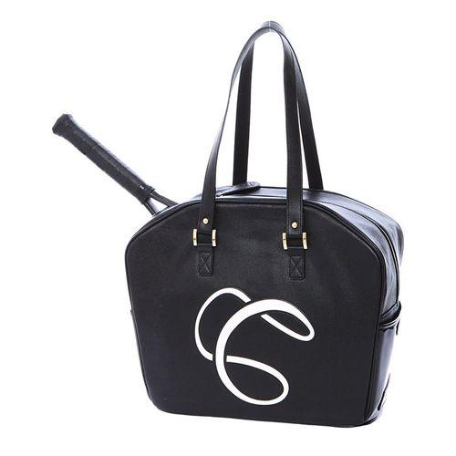Cortiglia Logo Tennis Bag - Black