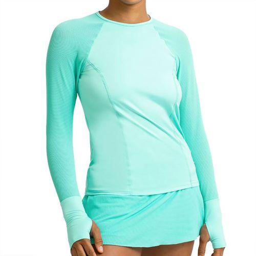 Eleven Forest Star High Serve Long Sleeve Top Womens Mint LS106 328