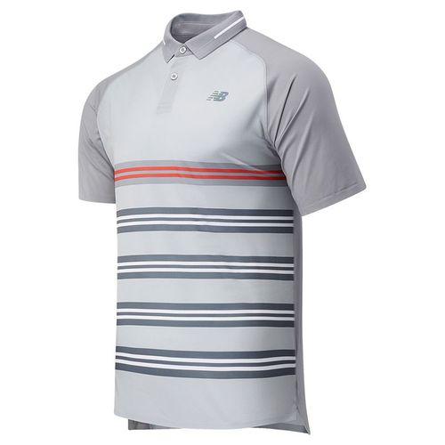 New Balance Printed Tournament Polo Shirt Mens Lead MT03404 LED