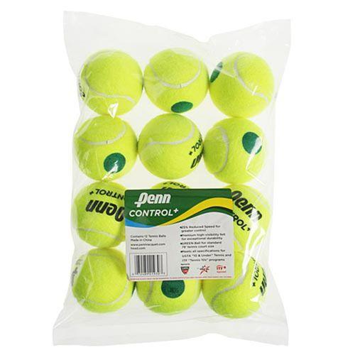 Penn Control Plus Green Dot Tennis Balls (12 pack)