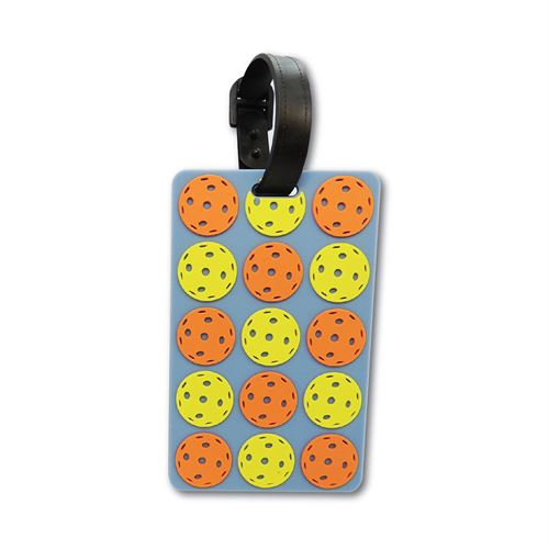 Racquet Inc Bag Tags Pickleball Balls - Orange/Yellow/Grey