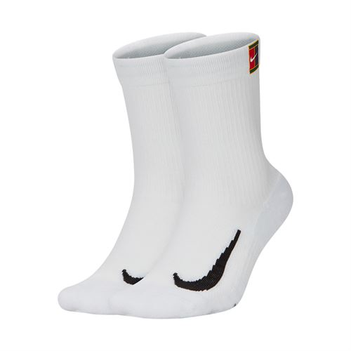 Nike Court Multiplier Cushioned Crew Sock - White