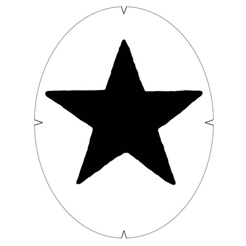 Tourna Star Stencil