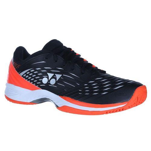Yonex Power Cushion Rev 2 Clay Mens Tennis Shoe - Black/Orange