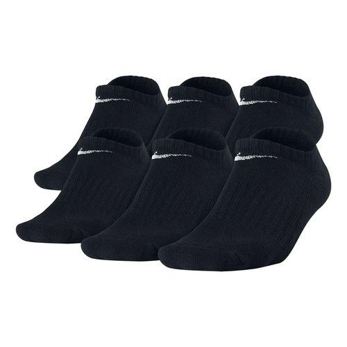 Nike Boys Banded Cotton No Show 6 Pack Socks - White/Black