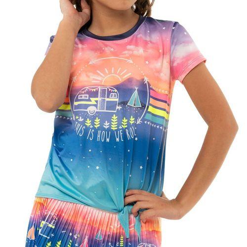 Lucky in Love Novelty Girls How We Roll Tee Shirt Multi T198 D23955