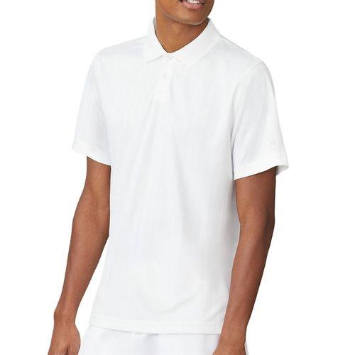 Fila Essentials Drop Needle Polo Mens White TM016472 100