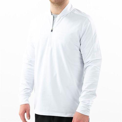 Fila Essentials 1/4 Zip Jacket Mens White TM016474 100