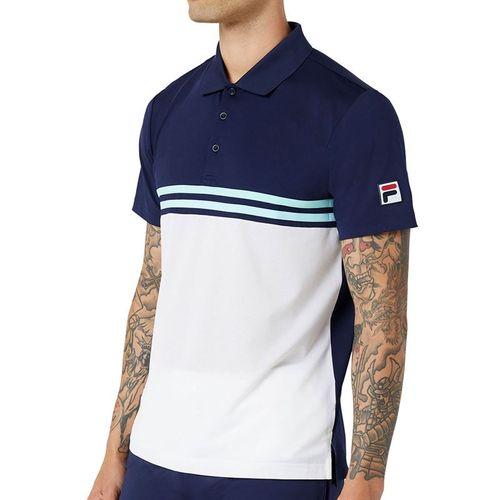 Fila Legends Rally Polo Shirt Mens Navy/White/Paradise TM036838 412