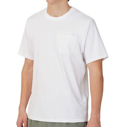 Fila Tie Breaker Vented Crew Shirt Mens White/Glacier Gray TM118297 100