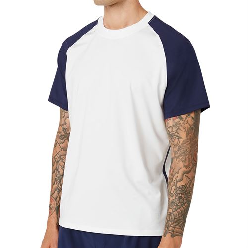 Fila Tie Breaker Colorblocked Crew Shirt Mens White/Glacier Gray TM118299 100