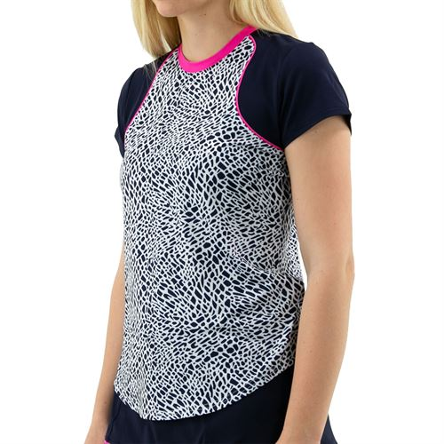 Jofit Rojito Flex Tee Shirt Womens Crocodile Print TT0017 CRO