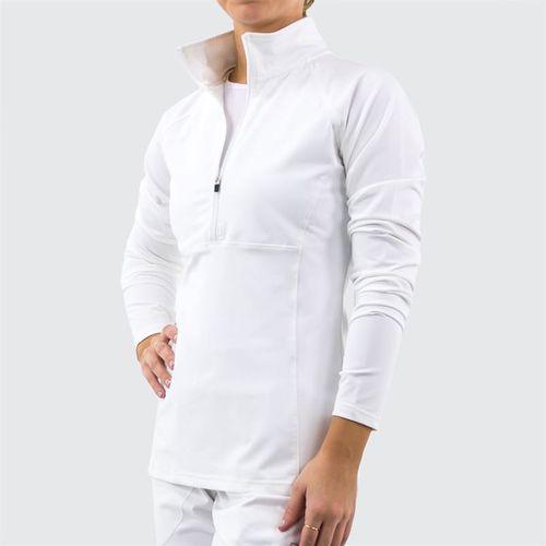 Fila 1/2 Zip Jacket Womens White TW016465 100