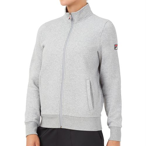Fila Match Fleece Full Zip Jacket Womens Grey TW016941 073