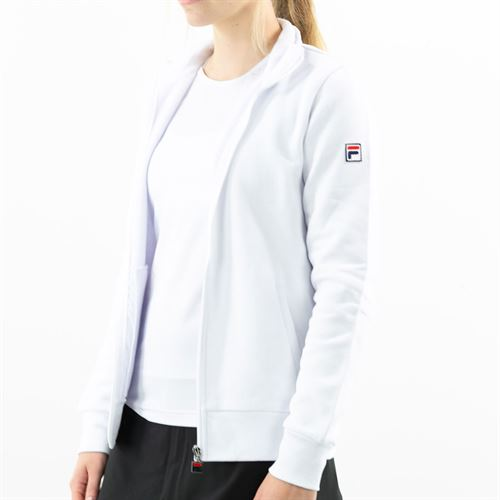 Fila Match Fleece Full Zip Jacket Womens White TW016941 100