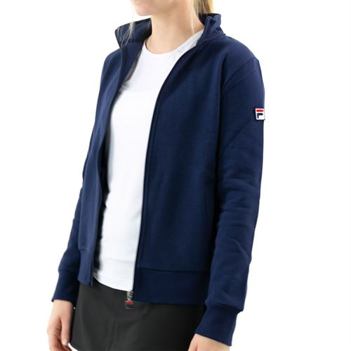 Fila Match Fleece Full Zip Jacket Womens Peacoat TW016941 412