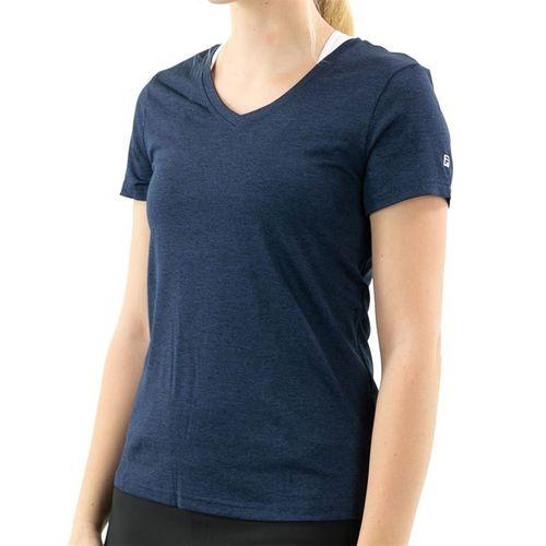Fila Short Sleeve V Neck Top Womens Peacoat TW016943 412