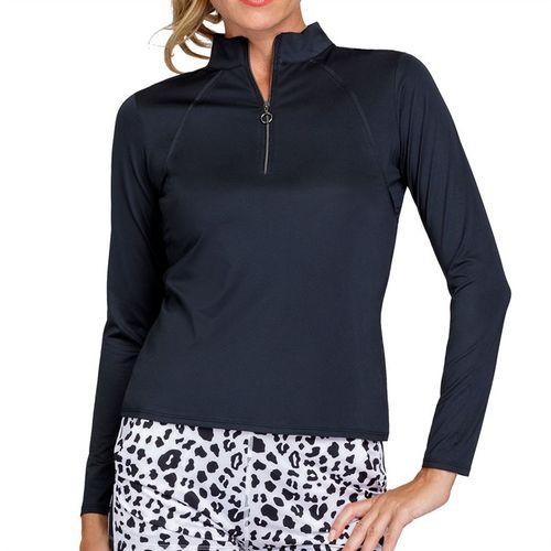 Tail Essentials Amelia Long Sleeve 3/4 Zip Top Womens Onyx TX2680 900X