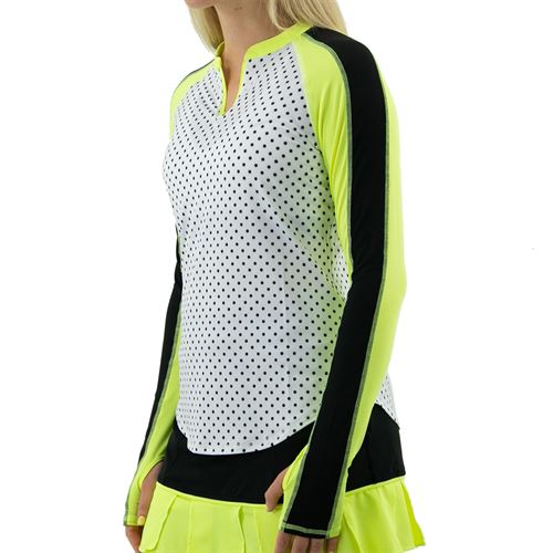 Jofit Limonata UV Long Sleeve Top Womens White Polka Dot UT0024 WPD